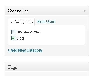 blog category